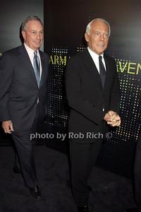 Mayor Michael Bloomberg, Giorgio Armani  photo  by Rob Rich © 2009 robwayne1@aol.com 516-676-3939