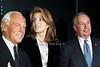 Giorgio Armani, Caroliine Kennedy, Mayor Michael Bloomberg <br />  photo  by Rob Rich © 2009 robwayne1@aol.com 516-676-3939