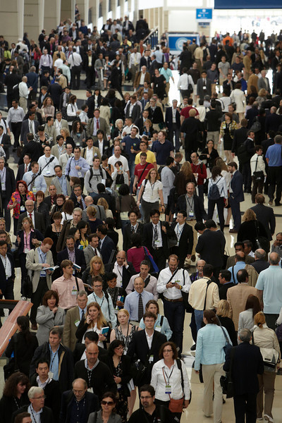 Chicago, IL - ASCO 2010 Annual Meeting: General Views on the main concourse at the American Society for Clinical Oncology Annual Meeting here today, Saturday June 5, 2010. Over 25,000  physicians, researchers and healthcare professionals from over 100 countries are attending the meeting which is being held at the McCormick Convention center and features the latest cancer research in the areas of basic and clinical science. Date: Saturday June 5, 2010 Photo by © ASCO/Todd Buchanan 2010 Technical Questions: todd@toddbuchanan.com; ASCO Contact: photos@asco.org