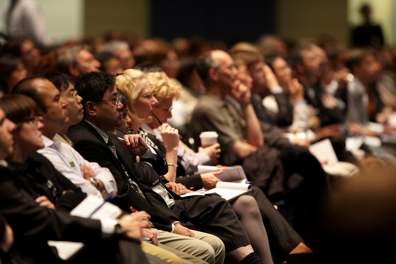 Chicago, IL - ASCO 2010 Annual Meeting: Attendees at the Session: Adjuvant Treatment in Patients over Age 75: When to Treat and When Not to Treat at the American Society for Clinical Oncology Annual Meeting here today, Sunday June 6, 2010. Over 25,000  physicians, researchers and healthcare professionals from over 100 countries are attending the meeting which is being held at the McCormick Convention center and features the latest cancer research in the areas of basic and clinical science. Date: Sunday June 6, 2010 Photo by © ASCO/Todd Buchanan 2010 Technical Questions: todd@toddbuchanan.com; ASCO Contact: photos@asco.org