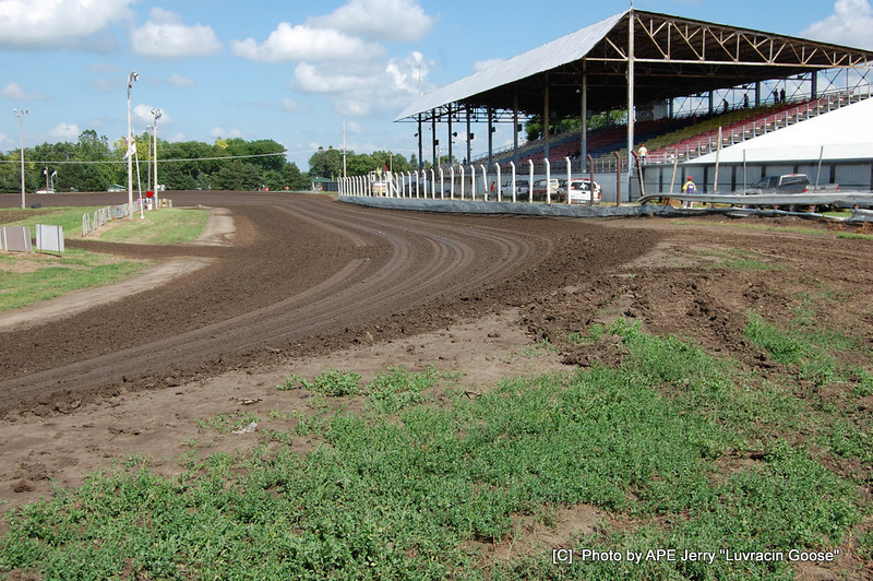 Turn 4 and front stretch