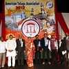 Mohammed Azheruddin former skipper and MP ,Pallam Raju Minister of State for Defence Sridhar Babu Dudilla, Andhra Pradesh Minister for Higher Edu&NRI Affairs, AP Minister for Information Smt. D.K. Aruna  ,Rajinder Jinna ATA President ,Madhu Yaskhi Goud MP, during American Telugu Association 12th Conference and Youth convention Georgia World Congress Center on july6th 2012...pic Mohammed Jaffer/SnapsIndia
