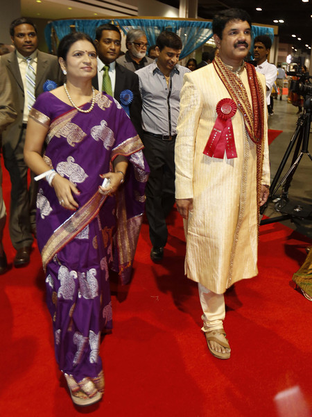 DK Aruna Minister AP arrived at 12th ATA convention on 7th July 2012...pic Mohammed Jaffer-SnapsIndia