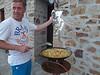 Oliver preparing paella