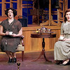 "Mark Maynard | for The Herald Bulletin<br /> Miss Todd (Natalie Pridemore) and Miss Pinkerton (Clare Lillig) sing about the day's happenings in the opera ""The Old Maid and the Thief"" presented by Anderson University."