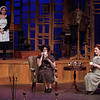 "Mark Maynard | for The Herald Bulletin<br /> As Laetitia the maid (Julianne Boyd looks on, Miss Todd (Natalie Pridemore) and Miss Pinkerton (Clare Lillig) share a cup of tea in ""The Old Maid and the Thief"" at Anderson University."