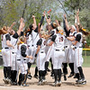 Don Knight | The Herald Bulletin<br /> The Ravens celebrate their 13-4 win.