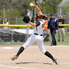 Don Knight | The Herald Bulletin<br /> Rachel Fiscus pitching the top of the fifth for the Ravens.