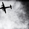 DC-4 tanker over the lookout on 8/14/2013. This is kind of a film noir/ Leni Riefenstahl treatment of this image (the Berlin Airlift comes to mind).