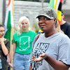 John P. Cleary | The Herald Bulletin<br /> Anderson University staff and students held a Peace and Unity March and Rally Saturday morning from the Peace Pole on campus to downtown Anderson for a peaceful display of unity. Nichele Carter Washington, director of AU's Peace and Conflict Transformation Program was the event organizer.