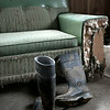 Boots and Sofa
