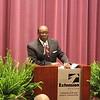 Alabama A&M University President Andrew Hugine, Jr., pays tribute to Lavanya Abburi.