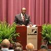 President Hugine addresses the audience. (2)