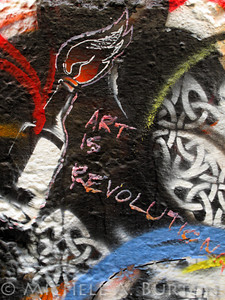 Art is Revolution - Graffiti in an Aberdeen Alley