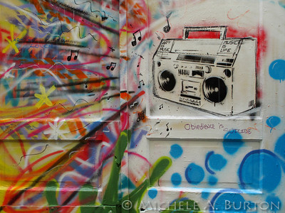 Art is Music. Music is Life - Graffiti in an Aberdeen Alley