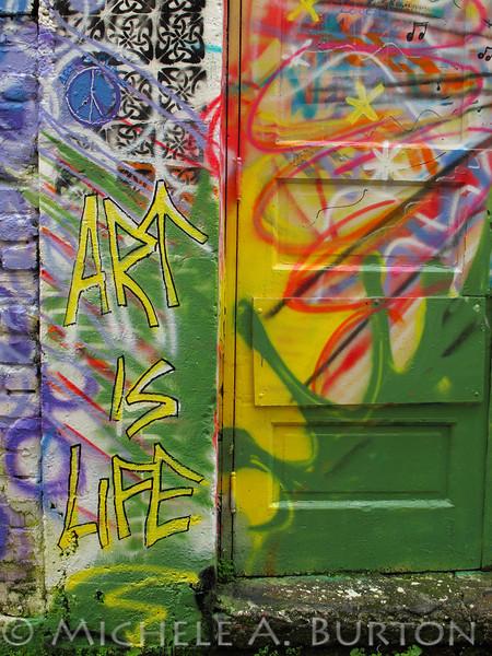 Art is Life - Graffiti in an Aberdeen Alley
