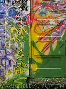 Art is Life - Graffiti in an Aberdeen Alley