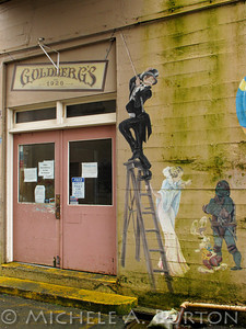 Goldbergs's - Graffiti in an Aberdeen Alley