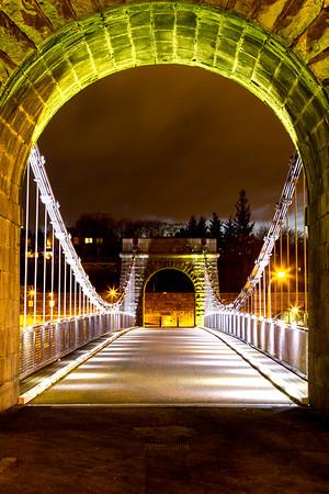 The old suspension bridge archway