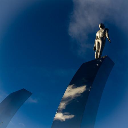 Waves sculpture, Aberdeen Sports Village