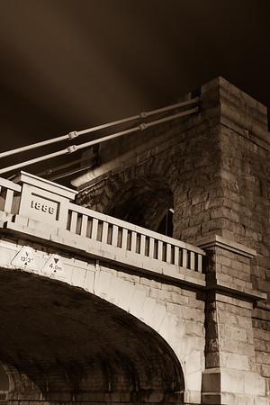 suspension bridge and road crossing - 1886
