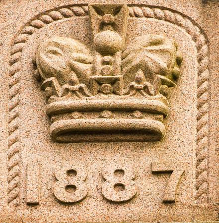 1887 Aberdeen granite plaque