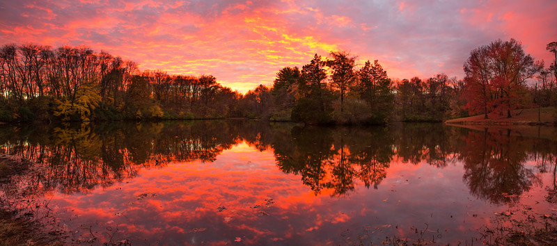 Sunset at our neighborhood lake November 2016
