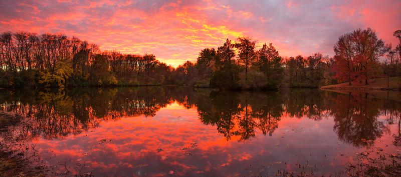 Sunset at our neighborhood lake November 2016