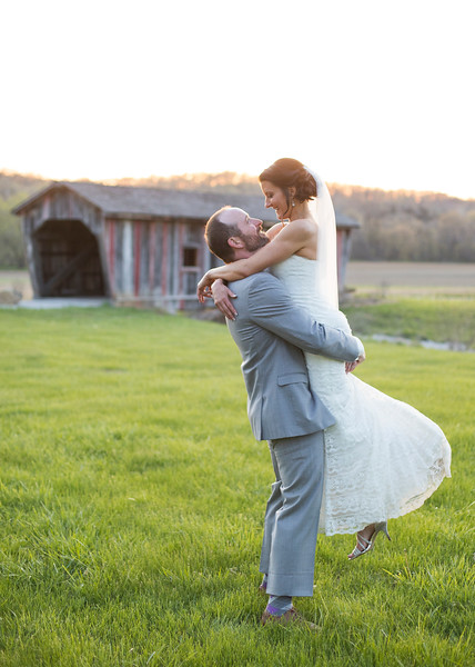 Daniel Boone Home - wedding pictures at sunset
