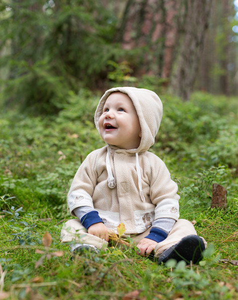 Little Lukas in the nature of Lithuania
