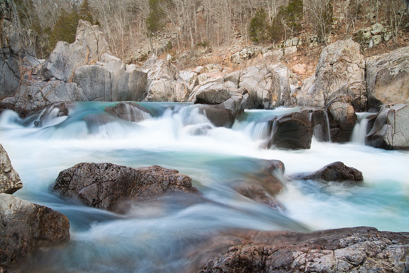Johnson Shut-Ins winter hike . Awesome scenic place with some really interesting geology
