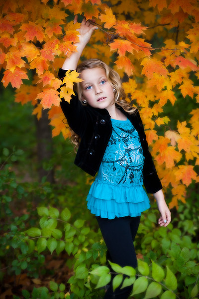 Fall portraits with Remey at Sculpture Park. Fall colors and beautiful light!