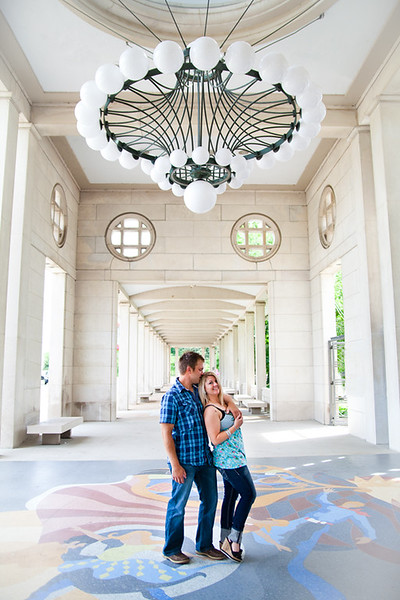 Engagement of John and Renea at Forest Park