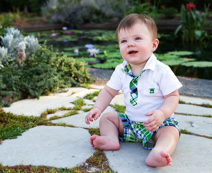 I got the opportunity to do this little guy's six month photos.