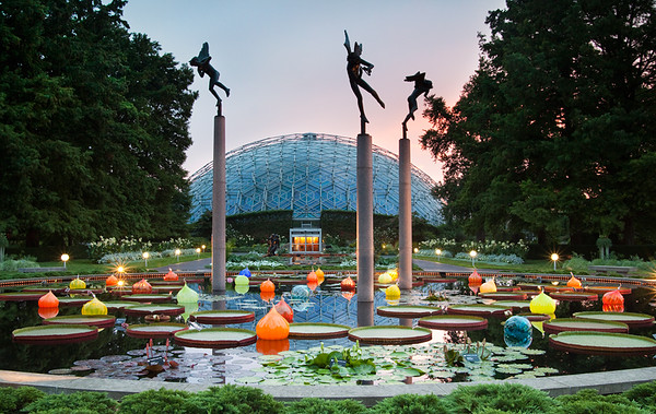 Botanical Gardens at sunset