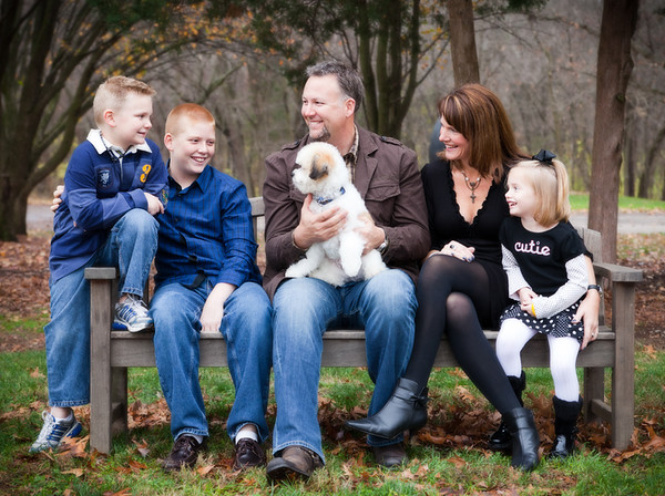 The Mitchell Family shoot at Sculpture Park