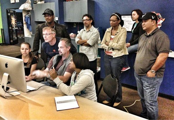 teaching an editing class to my fellow Eastlake Church photogs