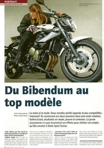 Dans le Moto Sport Suisse édition du 19 juillet 2011.<br /> <br /> IShooting pour une amie afin de rentrer dans son école de stylisme à Genève.