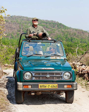 On safari in India, in search of wild tigers.   (photo by Jose Hernandez, 4/13)