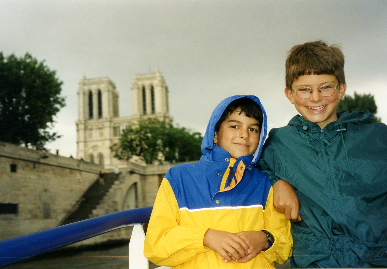 With brother Dustin in Paris