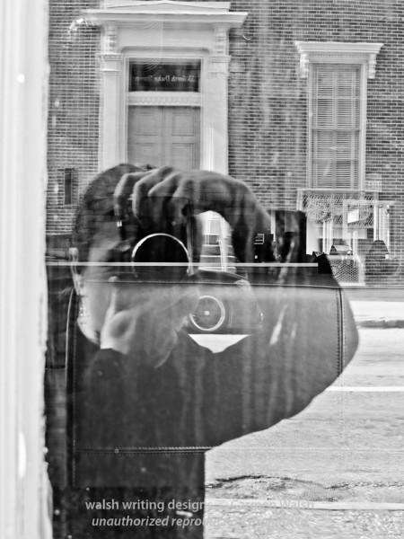 Self-portrait in the city