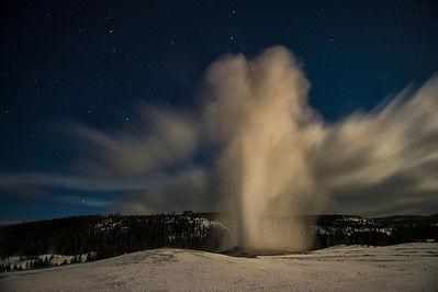 Old Faithful Night Eruption