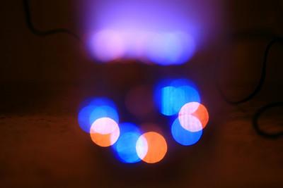 blue & orange led