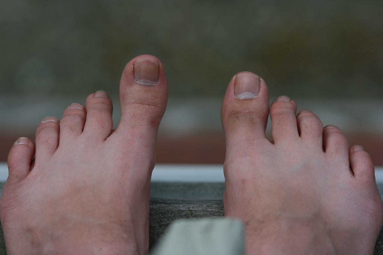 Photographer's feet.