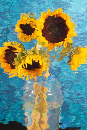 Van Goghish Sunflowers