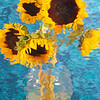 Van Goghish Sunflowers