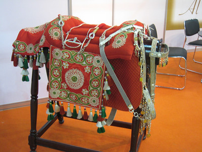 Saddle on display at the exhibtion