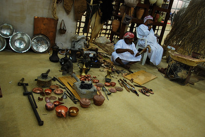 Local handcrafts on display, this time sandal making.