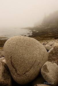 More boulders (what else?) on Boulder Beach, Acadia National Park.