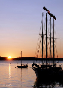 The schooner Margaret Todd greets another new day.